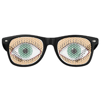 Realistic Funny Human Eye Wayfarer Sunglasses
