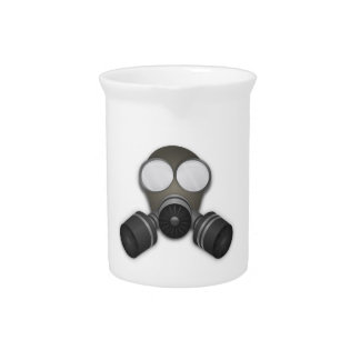 Realistic Gas Mask Beverage Pitchers