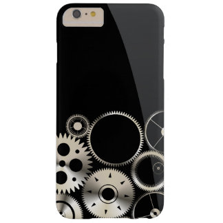 Realistic Gears on Black and Gray Barely There iPhone 6 Plus Case