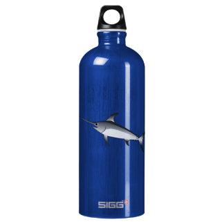 Realistic Gray/Grey Swordfish Aluminum Water Bottle