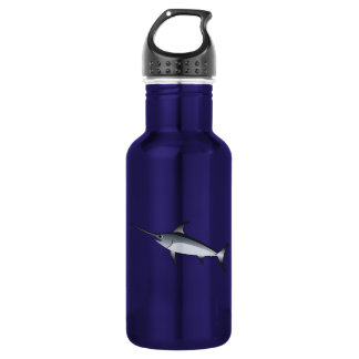 Realistic Gray/Grey Swordfish Water Bottle