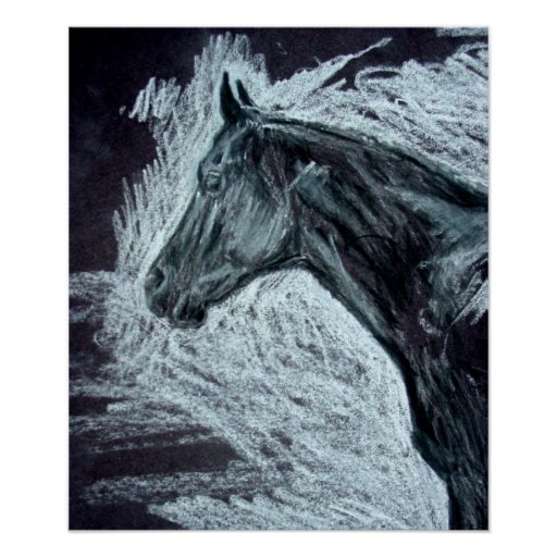Realistic Horse Paintings ..Quarter Horse Pictures Poster ...