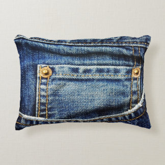 Realistic Jeans Pocket Accent Pillow