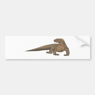 Realistic Komodo Dragon/Monitor Lizard Bumper Sticker