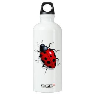 Realistic Ladybug: Freehand Art: Cute Bug Aluminum Water Bottle