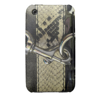 Realistic Leather Snakeskin Look with Clasp iPhone 3 Cover