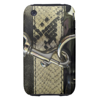Realistic Leather Snakeskin Look with Clasp Tough iPhone 3 Covers
