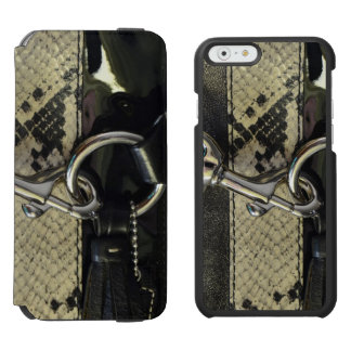 Realistic Leather Snakeskin Look with Clasp iPhone 6/6s Wallet Case