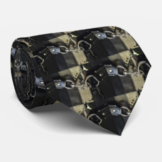 Realistic Leather Snakeskin Look with Clasp Neck Tie