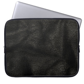 Realistic Leather Texture Laptop Sleeve