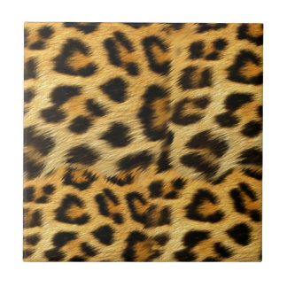 Realistic leopard fur print accessories - trendy tile