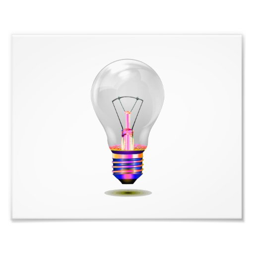 realistic lightbulb with colored base.png photograph