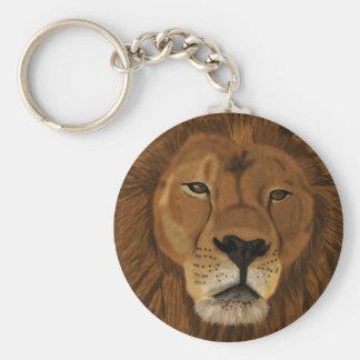Realistic Lion by Jesus Guzmán Basic Round Button Keychain