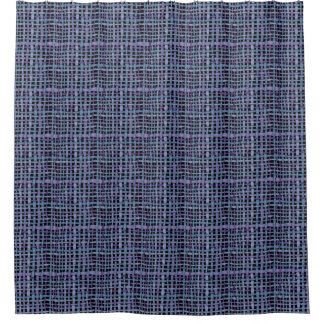 realistic looking graphic woven blue burlap shower curtain