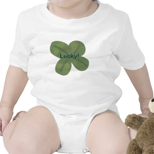 Realistic Lucky Green Shamrock Baby Shirt