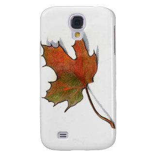 Realistic Maple Leaf: Color Pencil Art Samsung S4 Case