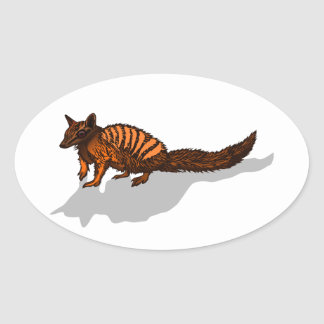Realistic Numbat Oval Sticker