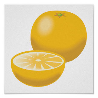 realistic orange tangerine print