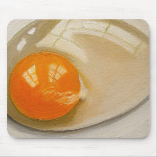 Realistic Painting of Raw Egg: Art Mouse Pad