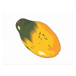 realistic papaya fruit design postcard
