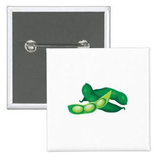 realistic pea pods 2 inch square button