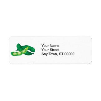 realistic pea pods return address label