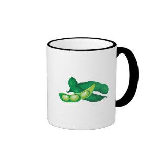 realistic pea pods ringer coffee mug