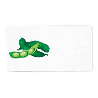 realistic pea pods shipping label