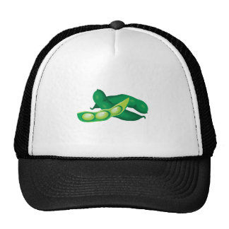 realistic pea pods trucker hat