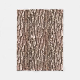 Realistic Photo Tree Bark Nature Pattern Fleece Blanket