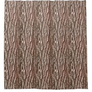 Realistic Photo Tree Bark Nature Pattern Shower Curtain