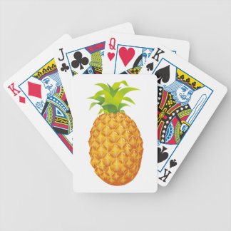 Realistic Pineapple Fruit Bicycle Playing Cards