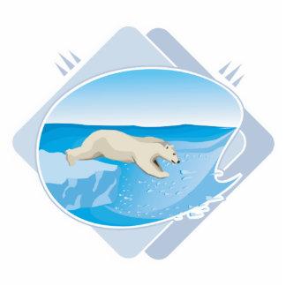 realistic polar bear fishing photo cut outs