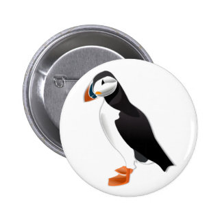 Realistic Puffin Bird Pinback Buttons