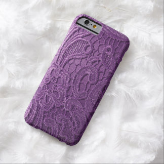 realistic purple satin lace phone Case Barely There iPhone 6 Case