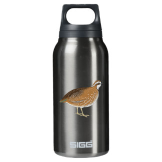 Realistic Quail Bird Insulated Water Bottle