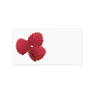 realistic raspberries custom address label