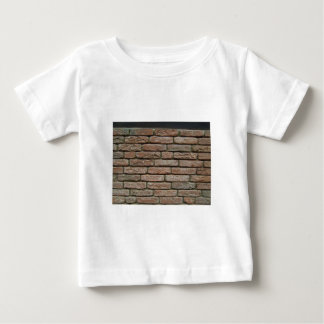 Realistic Red Brick Pattern Baby T-Shirt