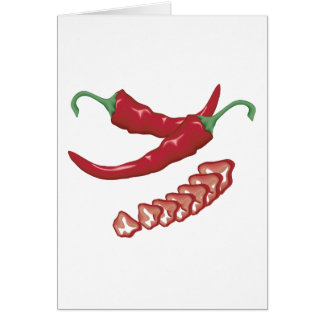 realistic red hot chili peppers graphic food desig card