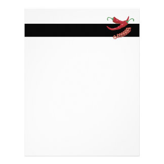 realistic red hot chili peppers graphic food desig letterhead