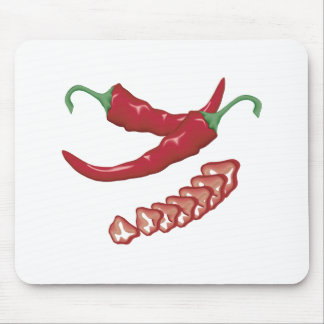 realistic red hot chili peppers graphic food desig mousepad