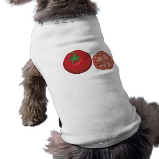 realistic red tomato pet tee