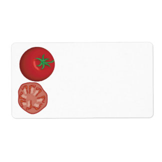 realistic red tomato custom shipping label