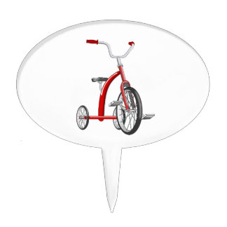 Realistic Red Tricycle Cake Topper