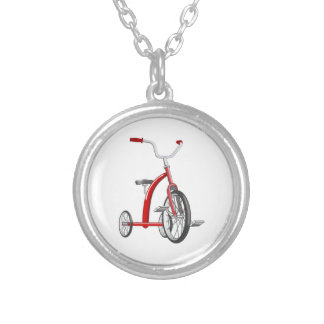 Realistic Red Tricycle Necklace