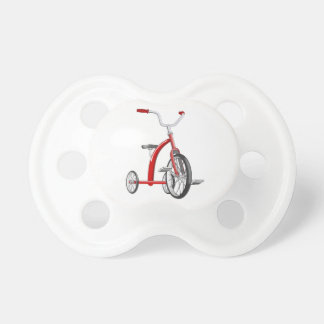 Realistic Red Tricycle Baby Pacifiers