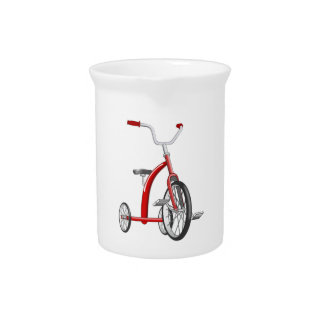 Realistic Red Tricycle Pitchers