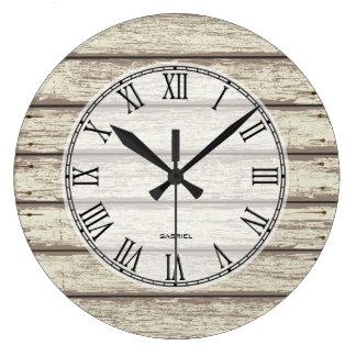 painted wood wall clocks zazzle