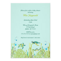 Realistic Sea Turtle Baby Shower or Birthday Party Invitation