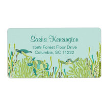 Realistic Sea Turtles Return Address Label